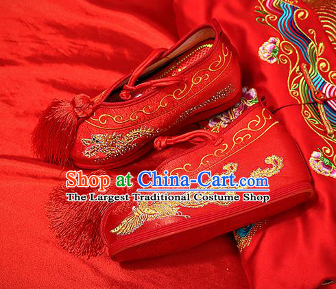 Chinese Shoes Wedding Shoes Opera Shoes Hanfu Shoes Red Embroidered Shoes for Women