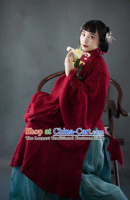 Chinese Traditional Ming Dynasty Historical Costumes Ancient Nobility Lady Hanfu Dress for Women