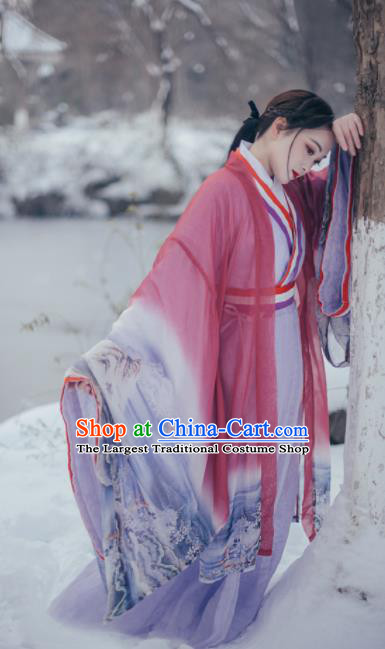 Chinese Traditional Ancient Peri Hanfu Dress Han Dynasty Imperial Concubine Historical Costumes for Women