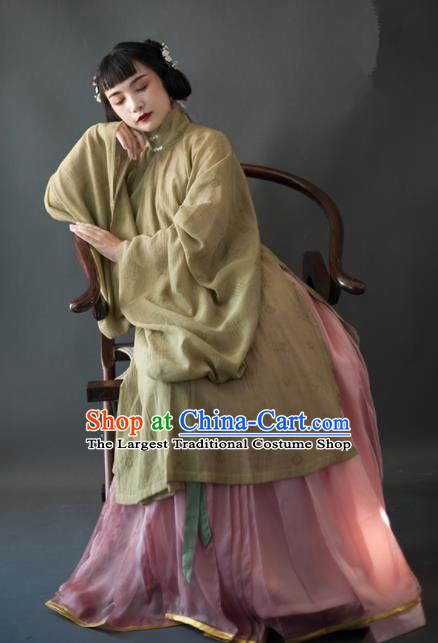 Chinese Ancient Hanfu Dress Traditional Ming Dynasty Historical Costumes Complete Set for Women