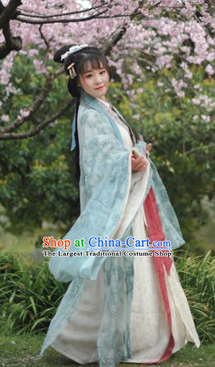 Chinese Ancient Palace Lady Hanfu Dress Traditional Jin Dynasty Imperial Concubine Historical Costumes for Women