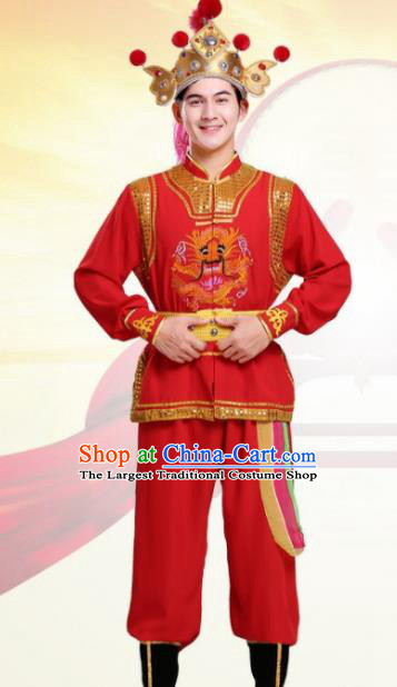 Chinese Traditional Folk Dance Costumes Ancient Beijing Opera Takefu Clothing for Men