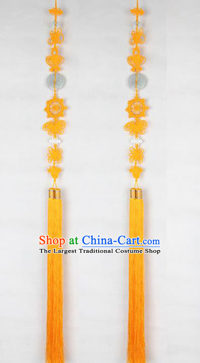Chinese Traditional Buddhist Supply Monk Buddhism Accessories Monks Yellow Tassel Pendant