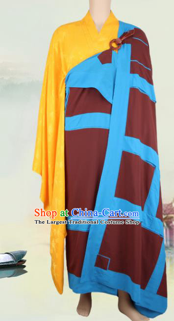 Chinese Traditional Buddhist Monk Buddhism Monks Cassock Costumes for Men