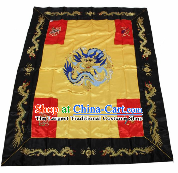 Chinese Traditional Buddhist Kowtow Cushion Buddhism Accessories Embroidered Dragon Cattail Hassock