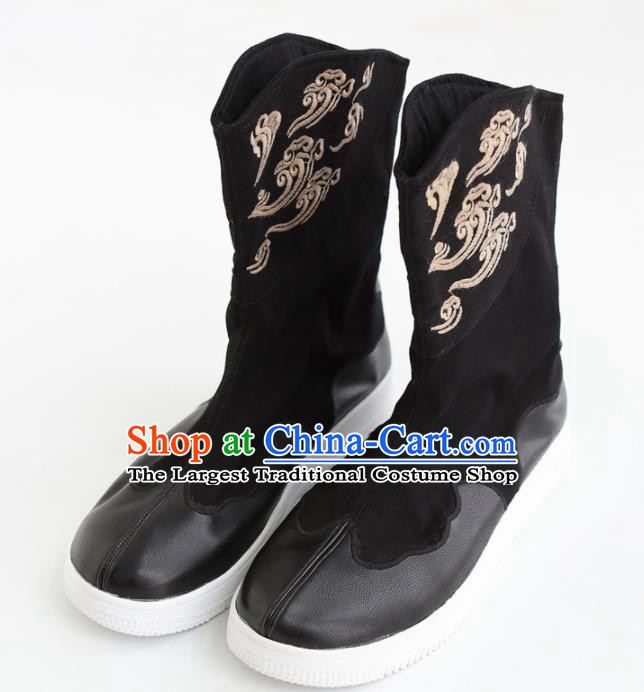Chinese Traditional Martial Arts Shoes Kung Fu Black Boots for Men