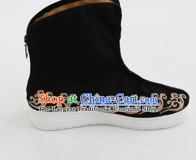 Chinese Traditional Martial Arts Shoes Kung Fu Black Cloth Boots for Men