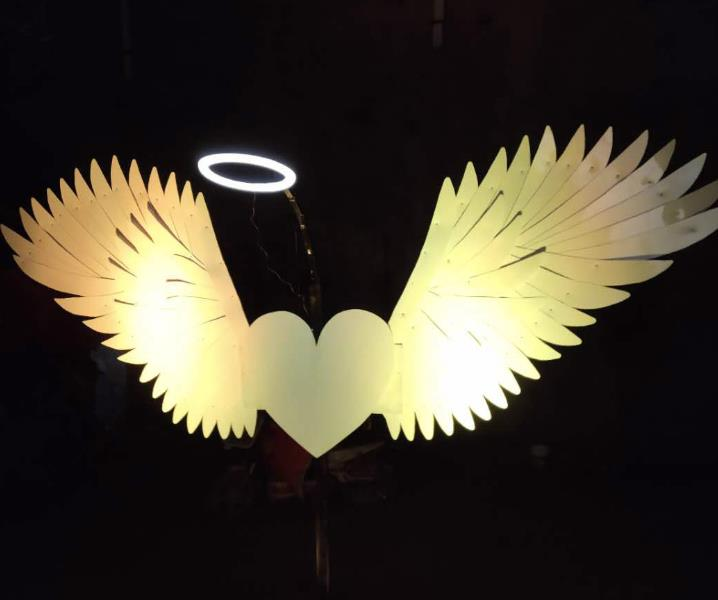Professional Stages Performance LED Lights Luminous Big Wings Butterfly Dance Costumes Dancing Costume Complete Set