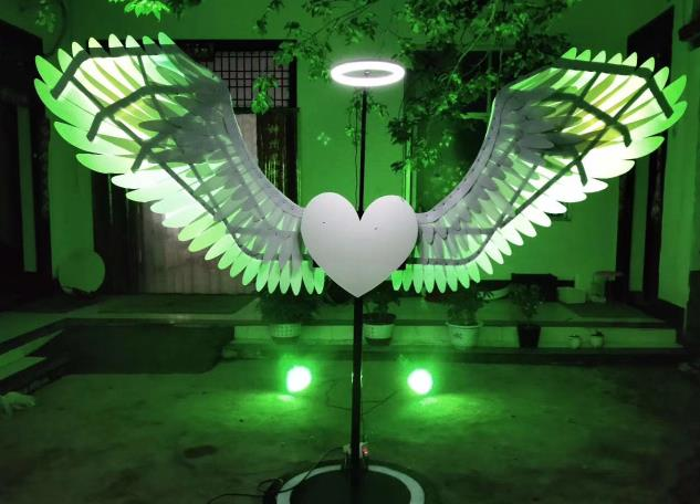 Professional Performance LED Lights Luminous Big Wings Butterfly Dance Costumes Dancing Costume Complete Set