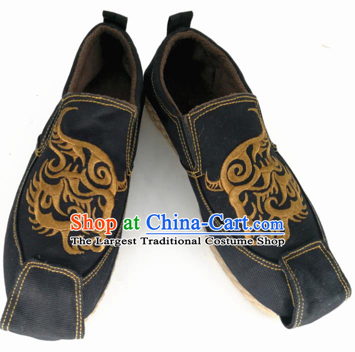Chinese Traditional Martial Arts Shoes Kung Fu Shoes Black Shoes for Men