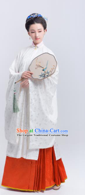 Chinese Traditional Ming Dynasty Historical Costumes Ancient Palace Lady Hanfu Dress for Women