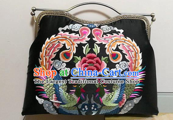 Chinese Traditional Embroidered Phoenix Bag Handmade Embroidery Craft