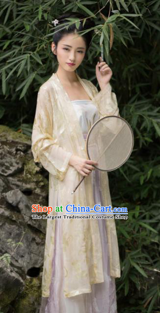 Chinese Traditional Song Dynasty Nobility Lady Historical Costumes Ancient Peri Silk Hanfu Dress for Women