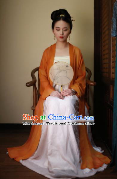 Chinese Traditional Song Dynasty Rich Women Silk Historical Costumes Ancient Nobility Lady Hanfu Dress