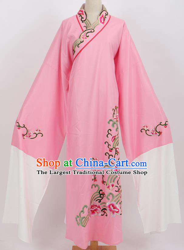 Professional Chinese Traditional Beijing Opera Niche Pink Robe Ancient Scholar Costume for Men