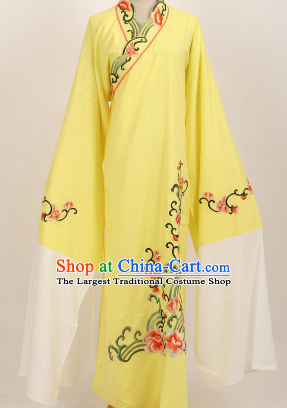Professional Chinese Traditional Beijing Opera Niche Yellow Robe Ancient Scholar Costume for Men