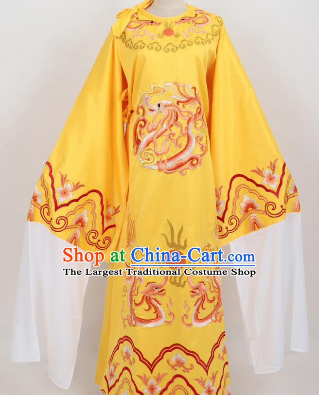Professional Chinese Traditional Beijing Opera Niche Yellow Ceremonial Robe Ancient Number One Scholar Costume for Men