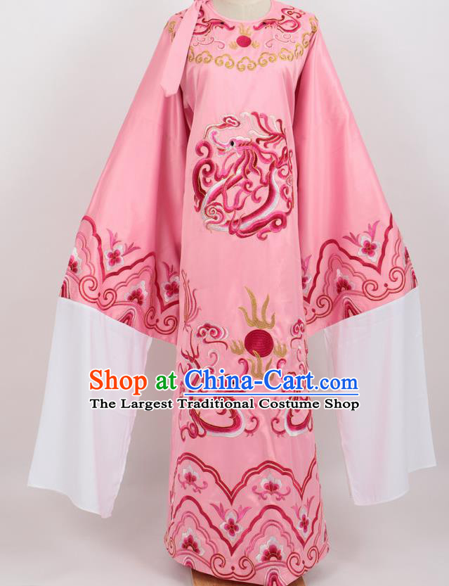 Professional Chinese Traditional Beijing Opera Niche Pink Ceremonial Robe Ancient Number One Scholar Costume for Men