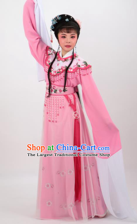 Chinese Traditional Professional Beijing Opera Diva Costumes Ancient Imperial Consort Pink Dress for Women