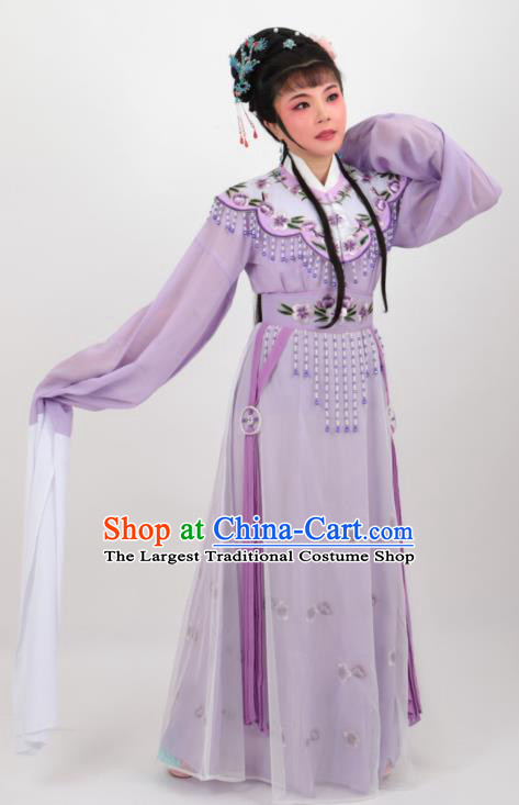 Chinese Traditional Professional Beijing Opera Diva Costumes Ancient Imperial Consort Purple Dress for Women