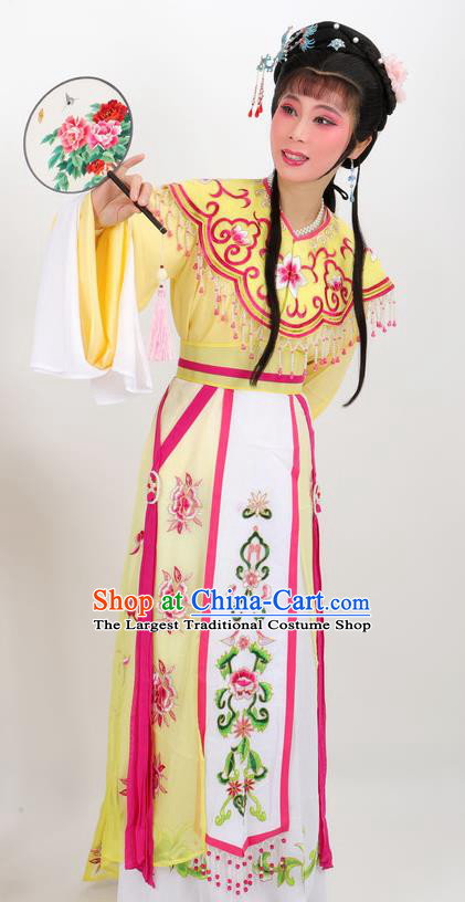 Professional Chinese Traditional Beijing Opera Diva Yellow Dress Ancient Imperial Consort Costumes for Women