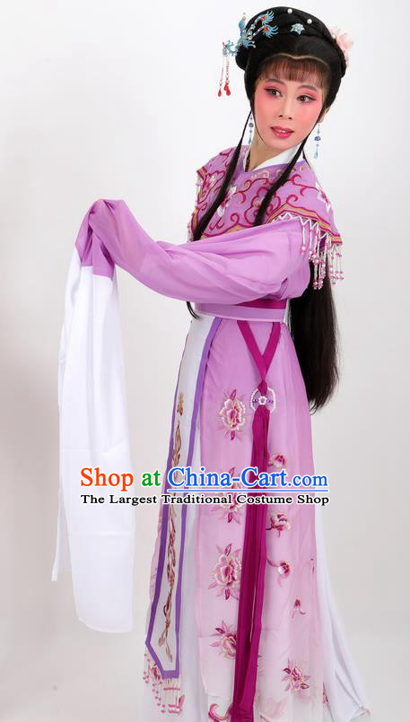 Professional Chinese Traditional Beijing Opera Diva Purple Dress Ancient Imperial Consort Costumes for Women
