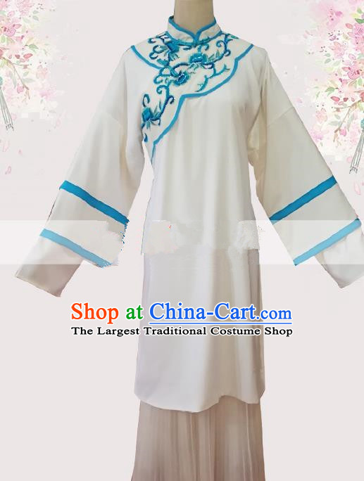 Professional Chinese Traditional Beijing Opera Woman Matchmaker White Dress Ancient Landlord Shiva Costumes for Women