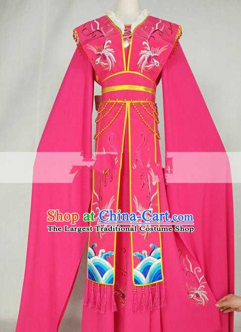 Professional Chinese Traditional Beijing Opera Diva Rosy Dress Ancient Nobility Lady Costumes for Women