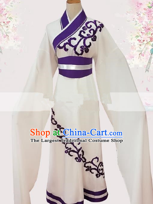 Professional Chinese Traditional Beijing Opera Young Lady White Dress Ancient Court Princess Costume for Women