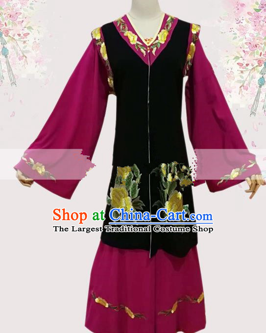 Professional Chinese Traditional Beijing Opera Stand By Dress Ancient Old Female Costume for Women