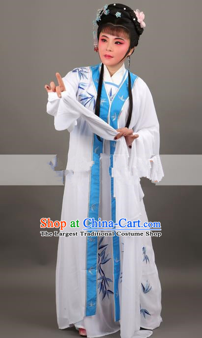 Professional Chinese Traditional Beijing Opera White Dress Ancient Nobility Lady Costume for Women