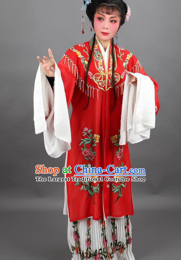 Professional Chinese Traditional Beijing Opera Red Cloak Ancient Nobility Lady Costume for Women