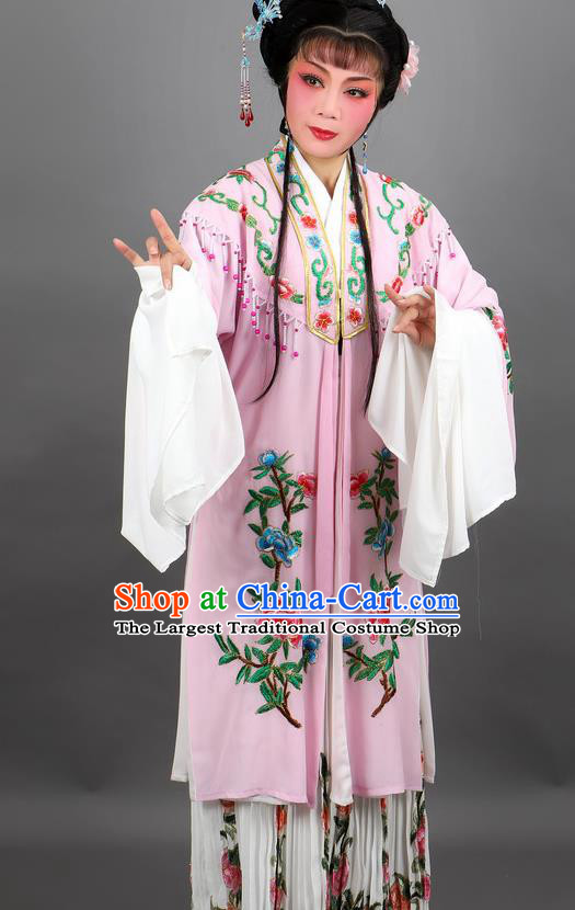 Professional Chinese Traditional Beijing Opera Pink Cloak Ancient Nobility Lady Costume for Women