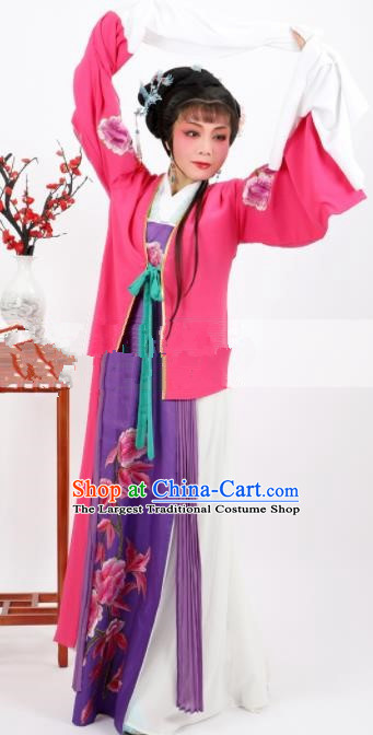 Professional Chinese Traditional Beijing Opera Rosy Clothing Ancient Nobility Lady Costume for Women