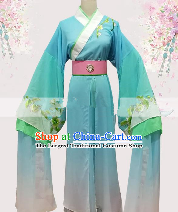 Professional Chinese Traditional Beijing Opera Blue Robe Ancient Scholar Costume for Men