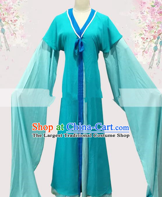 Professional Chinese Traditional Beijing Opera Blue Dress Ancient Taoist Nun Costume for Women
