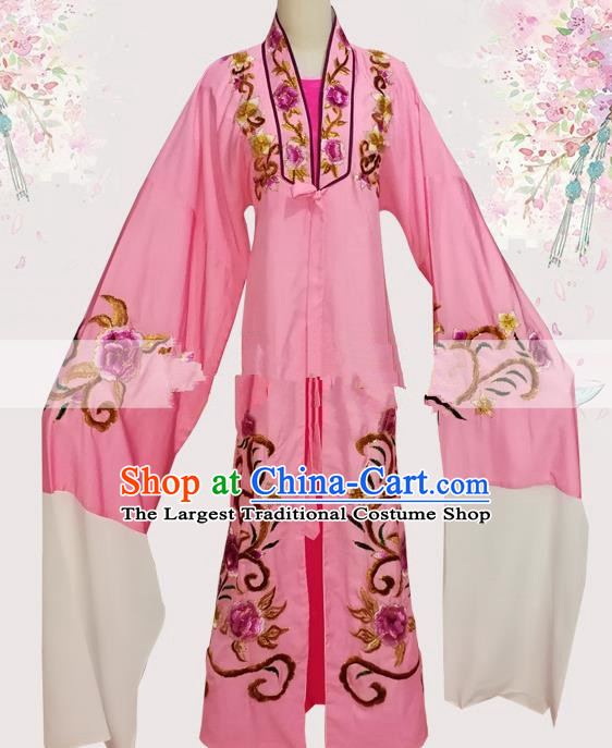 Professional Chinese Traditional Beijing Opera Pink Robe Ancient Scholar Meng Lijun Costume for Men
