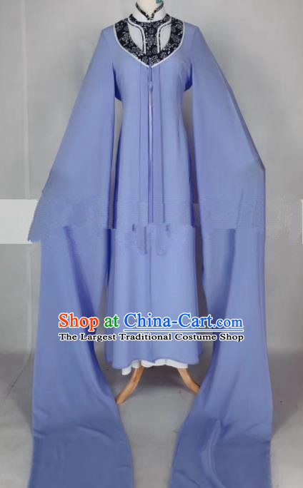 Professional Chinese Traditional Beijing Opera Qin Xianglian Lilac Dress Ancient Country Lady Costume for Women