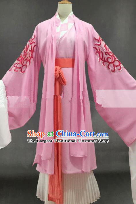 Professional Chinese Traditional Peking Opera Diva Pink Dress Ancient Buddhist Nun Costume for Women