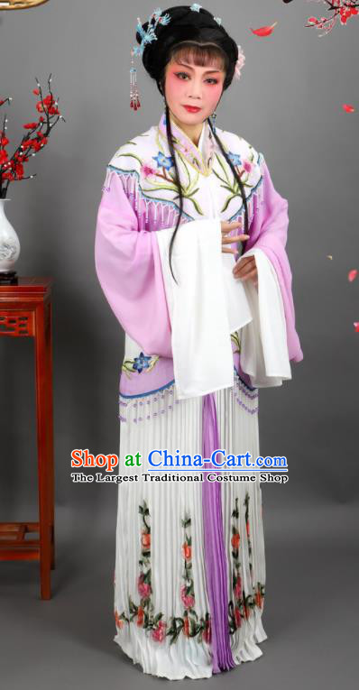 Professional Chinese Traditional Peking Opera Diva Purple Dress Ancient Palace Princess Costume for Women