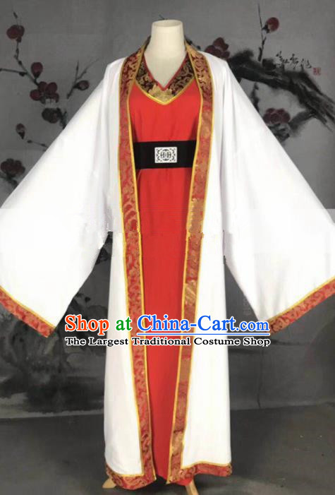 Professional Chinese Traditional Beijing Opera Niche Red Clothing Ancient Prince Scholar Costume for Men