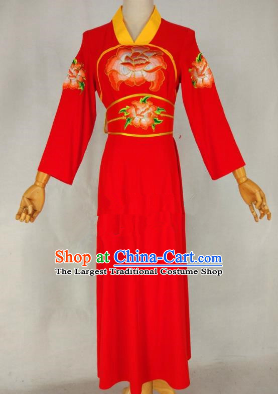 Chinese Traditional Peking Opera Young Lady Red Dress Ancient Servant Girl Costume for Women