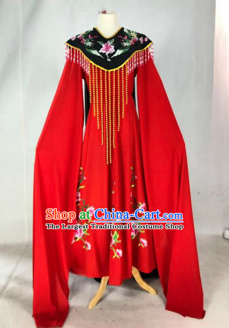 Chinese Traditional Peking Opera Actress Wang Xifeng Red Dress Ancient Court Queen Costume for Women