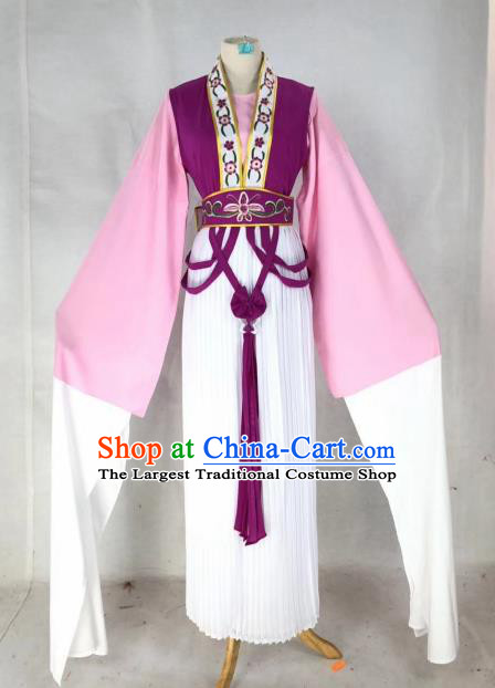 Chinese Traditional Peking Opera Actress Court Lady Purple Dress Ancient Palace Maid Costume for Women