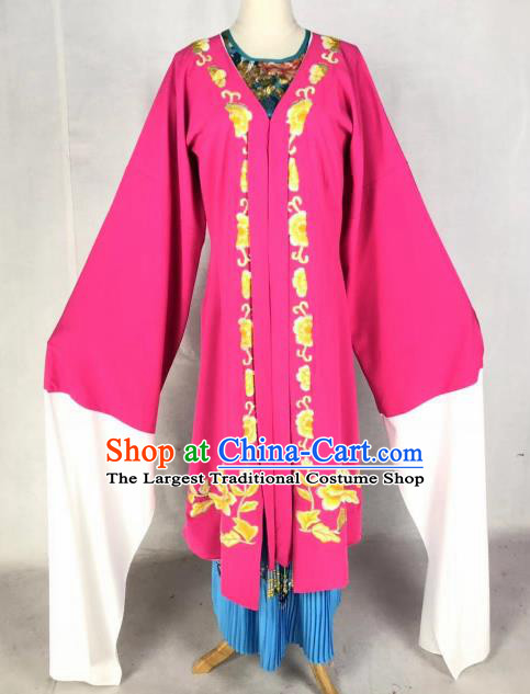 Chinese Traditional Peking Opera Actress Rosy Dress Ancient Court Lady Costume for Women