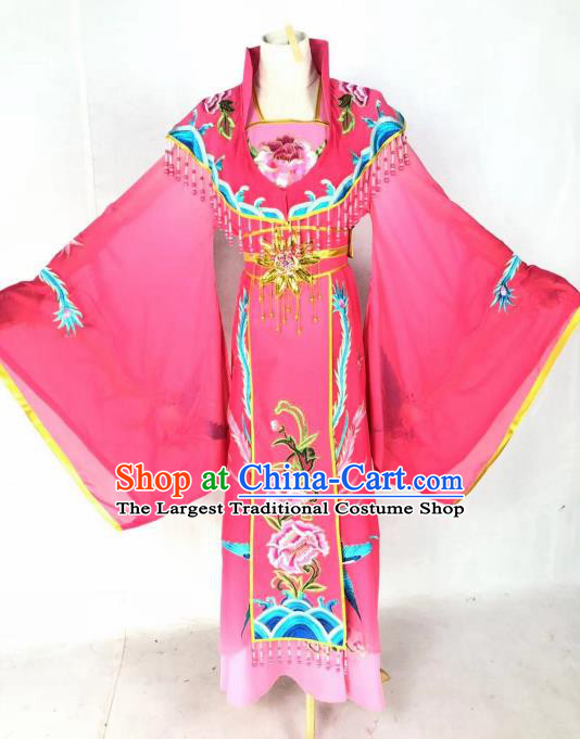 Chinese Traditional Peking Opera Actress Empress Rosy Dress Ancient Court Queen Costume for Women