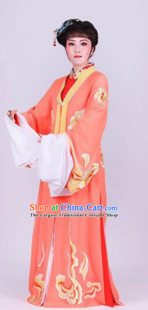 Chinese Traditional Peking Opera Actress Wang Xifeng Orange Dress Ancient Empress Costume for Women