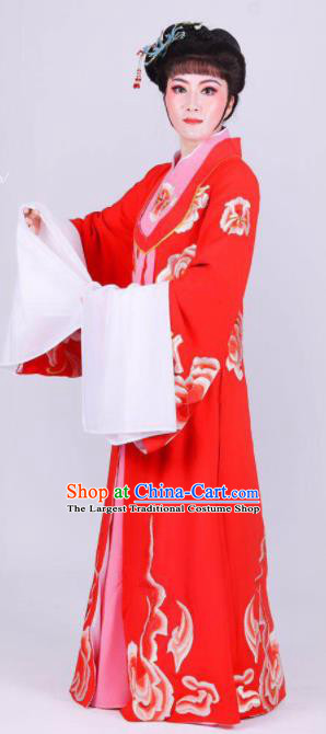 Chinese Traditional Peking Opera Actress Wang Xifeng Red Dress Ancient Empress Costume for Women