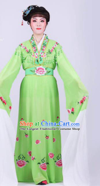 Chinese Traditional Peking Opera Actress Rich Lady Green Dress Ancient Royal Princess Costume for Women