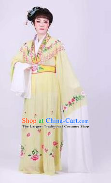 Chinese Traditional Peking Opera Actress Rich Lady Yellow Dress Ancient Royal Princess Costume for Women